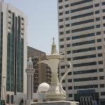 Kaffee Pott Skulptur in Abu Dhabis Zentrum