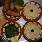 Mezze Platte zum Mittag