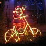 Santa Claus gab es in allen Variationen auf der Franklin Road