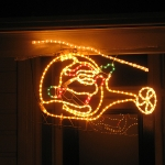 Santa Claus im Helikopter - die Leute lassen sich echt was einfallen...