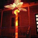 Haha, weihnachtliche Beleuchtung bei sommerlichen Temperaturen und einer tropischen (Plastik) Vegetation