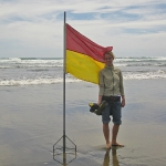 Am Strand als Rettungsschwimmer