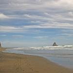 """Karekare Beach westlich von Auckland. Hier stand """"Das Piano"""" am Strand"""