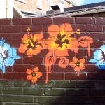Cooles Hibiskus Graffiti