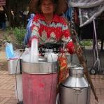 Ein tragbarer Shop in Ayutthaya / Thailand