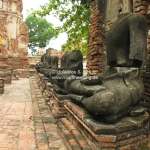 Überbleibsel im Tempel in Ayutthaya / Thailand