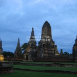 Tempel by night in Ayutthaya / Thailand