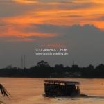 Sonnenuntergang an der Gaia Bar über dem Mekong