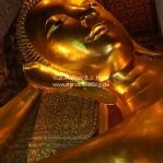 Liegender Buddha im Wat Po / Bangkok / Thailand