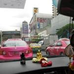 Aus dem Taxi in Bangkok / Thailand