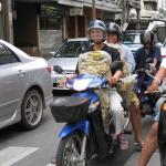 Straßenszene in Bangkok / Thailand