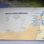Übersicht der Vereinigten Arabischen Emirate: Abu Dhabi (Hauptstadt), Dubai (Handelszentrum), Sharjah, Ajman, Umm Al Quwain, Ras al Khaimah und Fujairah