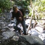 Eine kleine Kletterpartie um näher an den Gletscher zu kommen
