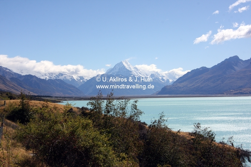 Mount Cook und Lake Pukaki
