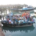 Bootsfahrt in Dwarka / Gujarat / Indien