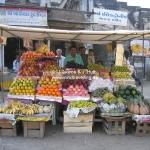 Gemüsestand in Jamnagar / Gujarat / Indien