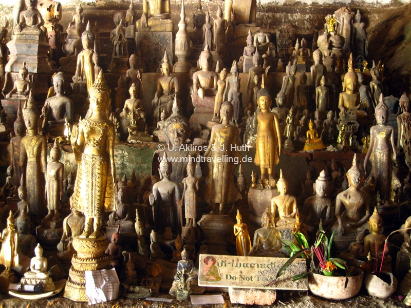 Buddha Collection in Pak ou Cave