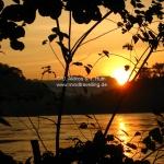 Sonnenuntergang über dem Mekong in Luang Prabang / Laos