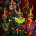 Ramayana Aufführung in Luang Prabang / Laos