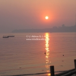 Sonnenuntergang am Chowpatty Beach