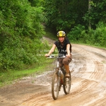 Schlammige Mountain Bike Tour