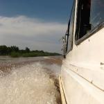Grenzüberquerung über den Mekong von Cambodia nach Vietnam