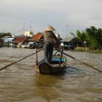 Paddelboot im Mekong Delta / Vietnam