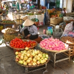 Auf dem Gemüsemarkt in Chau Doc / Mekong Delta / Vietnam