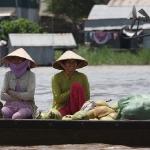 Auf dem Floating Market in Chau Doc / Mekong Delta / Vietnam