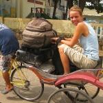 Auf dem Cyclo unterwegs in Chau Doc / Mekong Delta / Vietnam