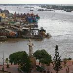 Blick aus unserem Hotel in My Thon / Mekong Delta / Vietnam