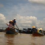 Unsere Fahrt mit Quynh durch den Tan Thach Kanal / Mekong Delta / Vietnam.