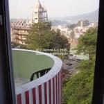 Unser Balkon in Rishikesh