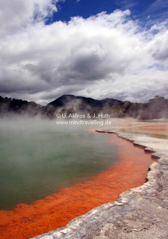 Der berühmte Champagner Pool im Wai-O-Tapu Thermal Wonderland
