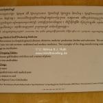 Anweisung für die Medizinherstellung im Toul Sleng Genocide Museum (S-21) in Phnom Penh