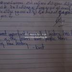 Krasse Erkenntnis im Visitorbuch des Toul Sleng Genocide Museum (S-21) in Phnom Penh