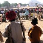 Zuschauer auf der Camel Fair in Pushkar