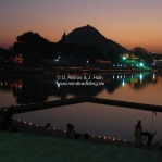Sonnenuntergang am Pushkar See