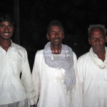 Männergruppe auf der Camel Fair in Pushkar
