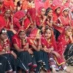 Schulklasse auf der Camelfair in Pushkar