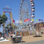 Straßenszene auf der Camel Fair in Puskar