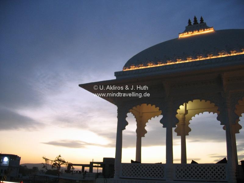 Sonnenuntergang in Udaipur