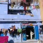 Unsere Wäsche hängt in Bundi auf der Leine