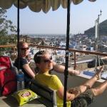 Auf der Dachterasse in Bundi / Rajasthan / Indien