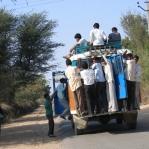 Indische Straßenverhältnisse