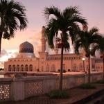 Abendstimmung bei der Moschee in Kota Kinabalu / Sabah / Borneo