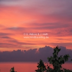 Sonnenuntergang in Sarawak / Borneo