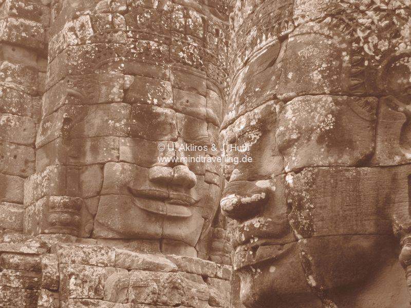 Gesichter im Bayon Tempel Angkor Wat Siem Reap / Cambodia