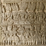 Relief in Angkor Wat