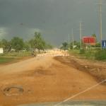 Die Straße von Poipet nach Siem Reap